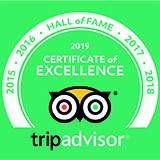 TripAdvisor Hall of Fame Award
